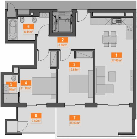 4c apartment plan