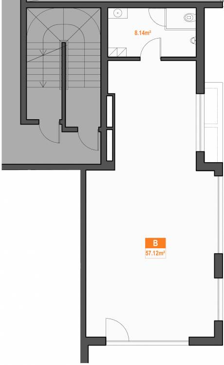 B apartment plan