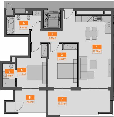 2c apartment plan