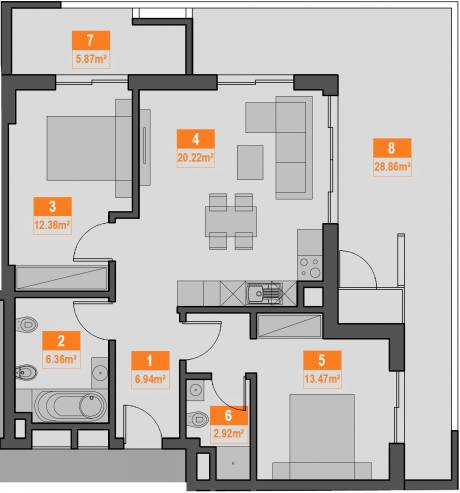 2a apartment plan